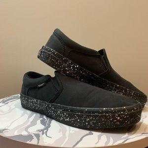 Vans Ortholite Black Sparkle Soles Sneaker NWOT